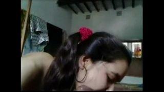 Reshma sucking lovers cock