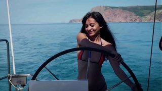 Shrima Malati goes for her first anal sex cruise with her french sex coach Jean Marie Corda
